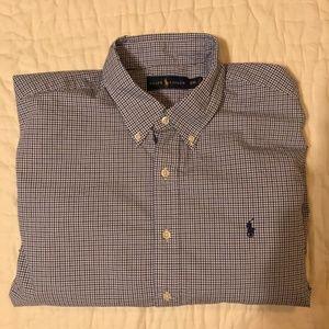 Polo Ralph Lauren Men's Shirt - Blue Check - XXL